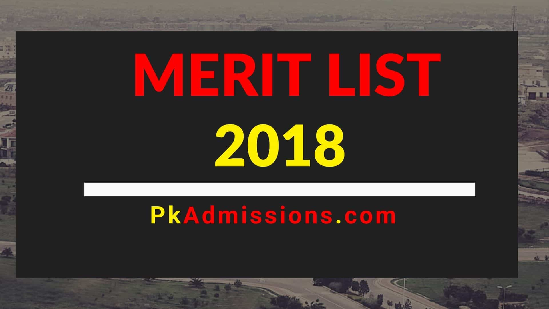 closing merit list of Arid Agriculture 2018
