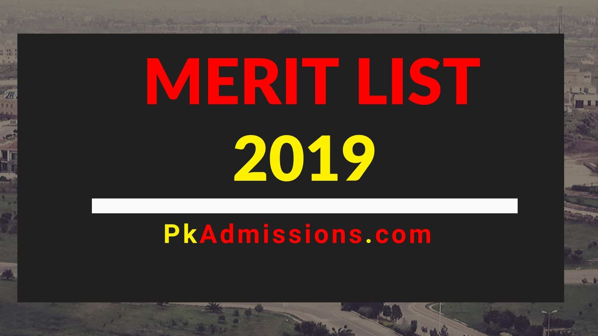 Closing Merit List Of Gc University 2019 2020
